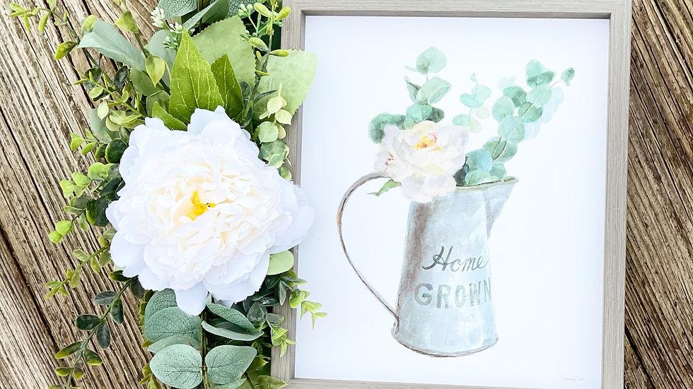 Home Grown Wreath-14 inch grapevine base