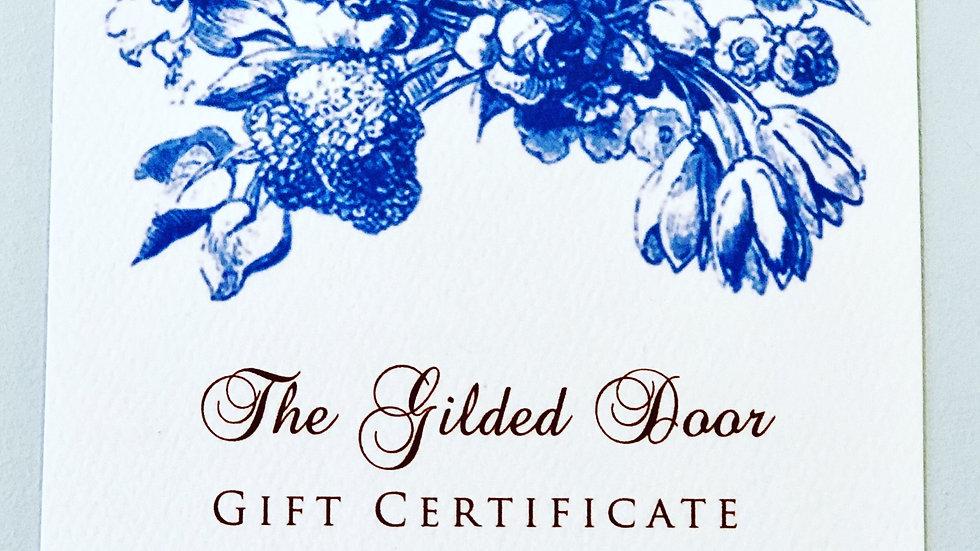 The Gilded Door Gift Certificate