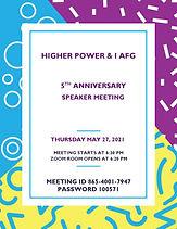 Higher Power & I AFG Anniversary Flyer-p