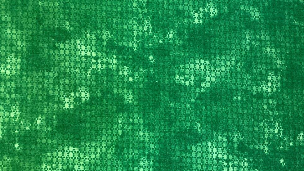 Webware / Baumwollstoff in grün gemuster