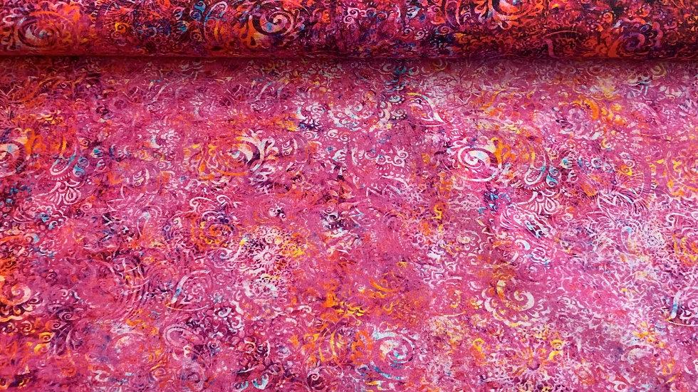 "Webware / Baumwollstoff "" Gypsy Soul "" by QT fabrics in pink"