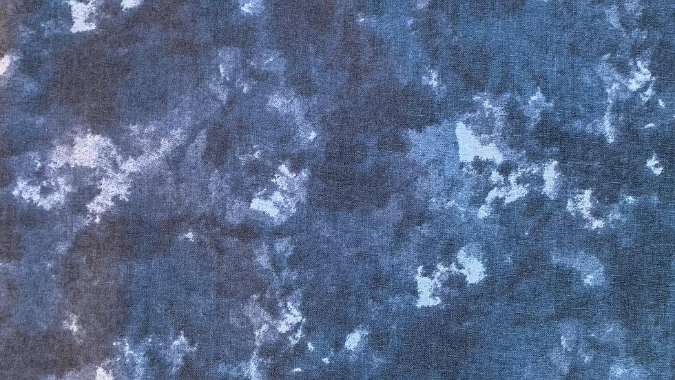 Webware / Baumwollstoff in blau gemuster