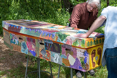 Decorated carboard Coffin.jpg