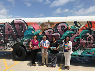 Railroad Museum donates to GISD's Book Bus