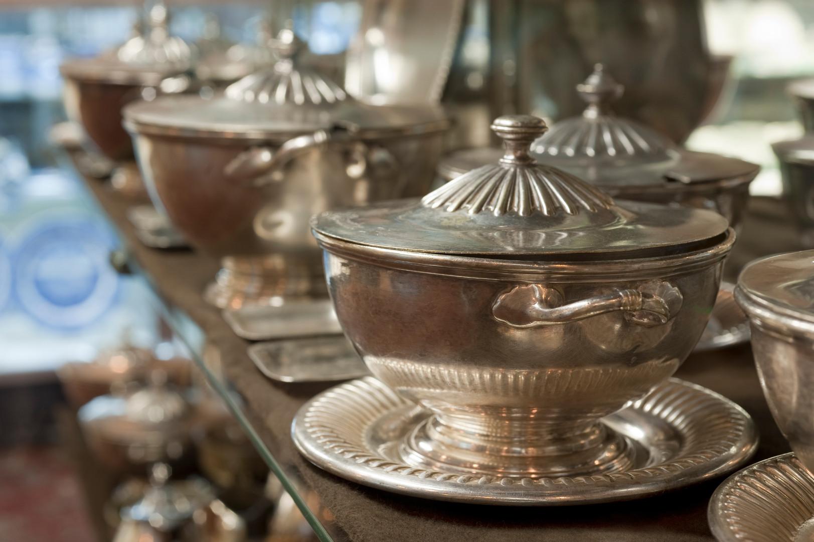 Santa Fe covered silver bowls.