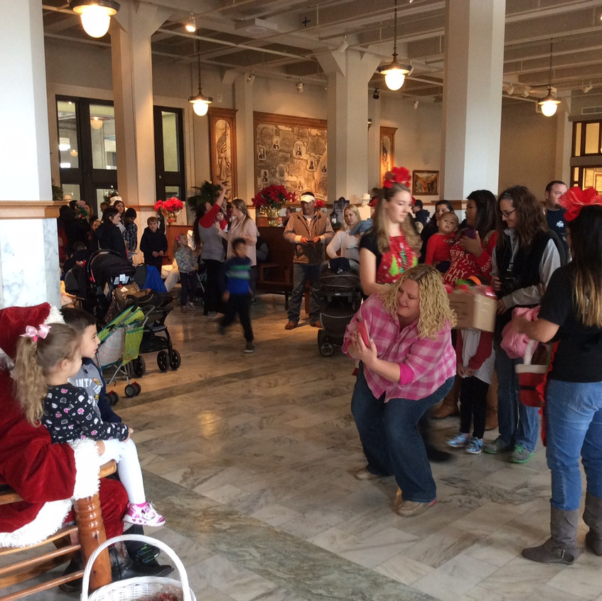 Meet with Santa in the Depot!
