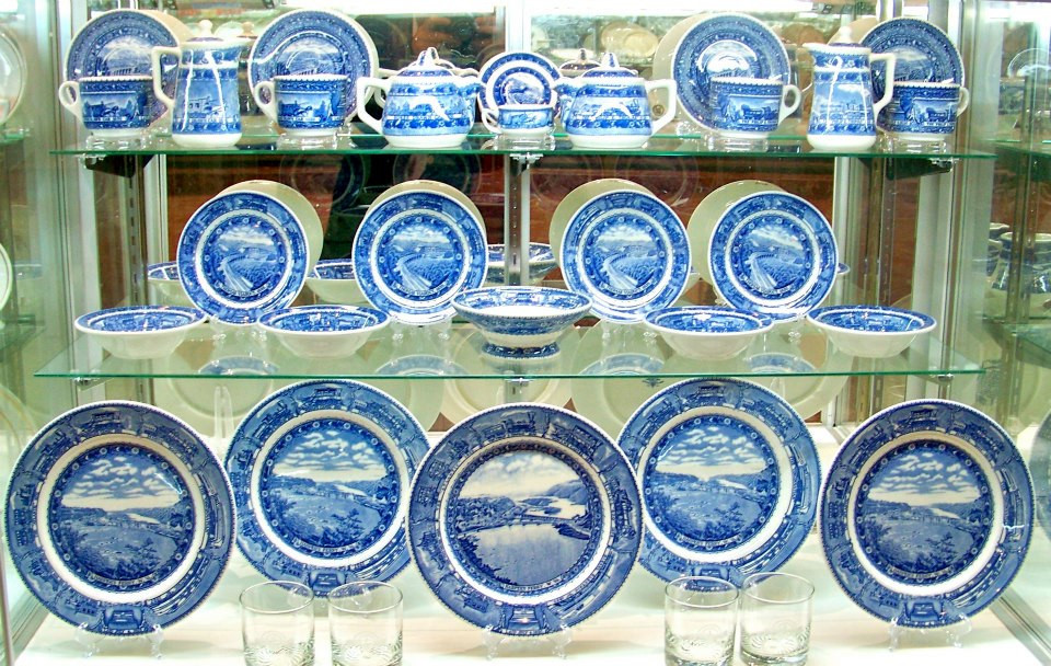 Baltimore and Ohio Centenary Pattern plates, bowls, and coffee sets.