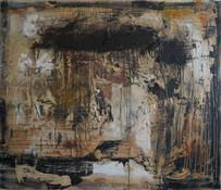 [Sans titre], 2014, Technique mixte sur bois, 122x105