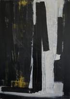 [Sans titre], 2015 Acrylique, encre, pigment sur toile, 65x92