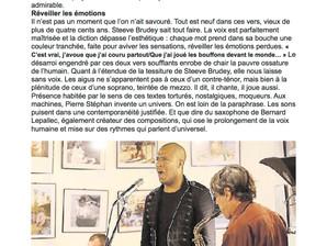 Presse suite au concert du 8 avril à Brest
