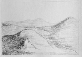 Paysage au crayon