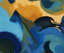 Composition Huile / Terres et bleus