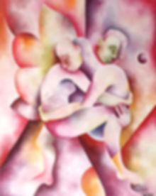 Canvas of people holding eachother in an embrace