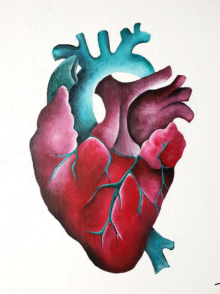 Canvas of a heart