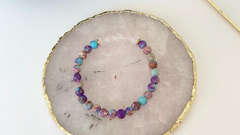 Purple Impressions Jasper & Rose Quartz