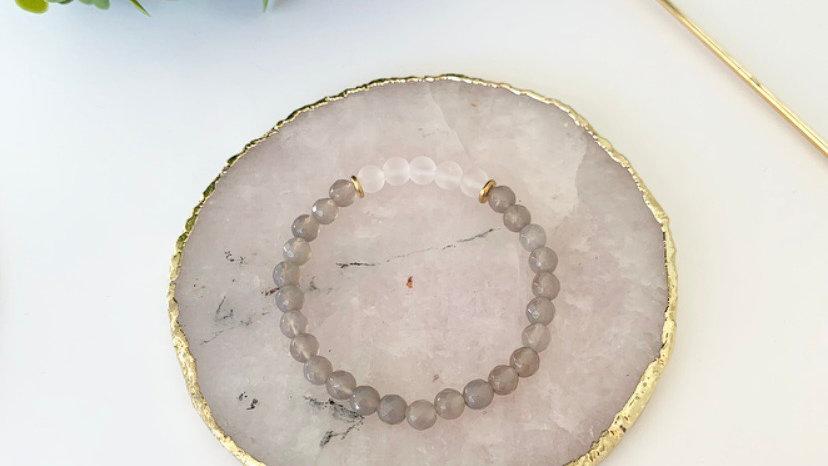 Grey Agate & Rose Quartz