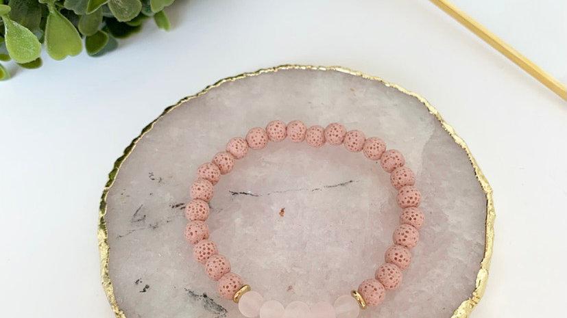 Pink Rose Diffuser Bracelet