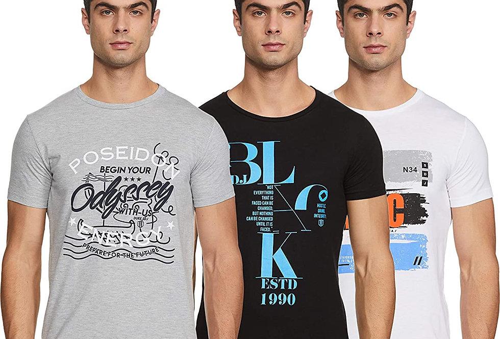 Duke Men's Printed Slim fit T-Shirt