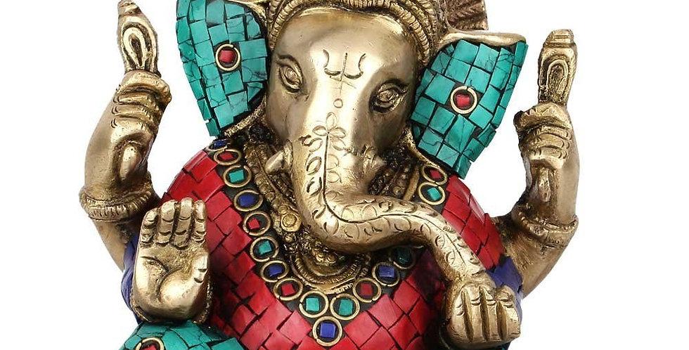 Statue Studio Brass Ganesha Idol for Diwali Office Corporate Gift Showpiece