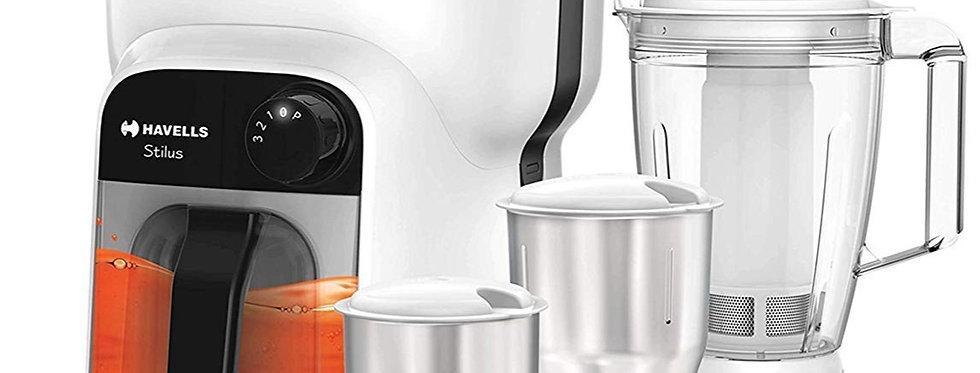 Havells Stilus 500 Watt Juicer Mixer Grinder with 4 jar (White /Black)
