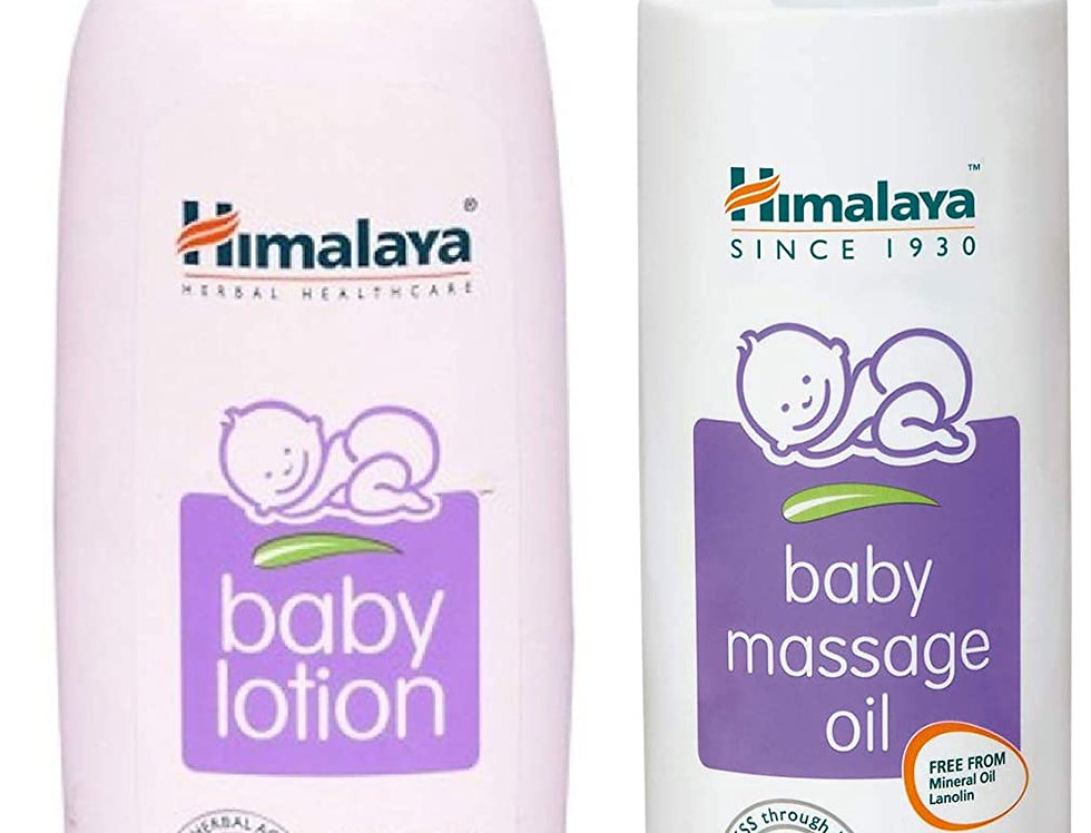 Himalaya Herbal Baby Lotion( 400 ml) and Massage Oil ( 500 ml) Combo