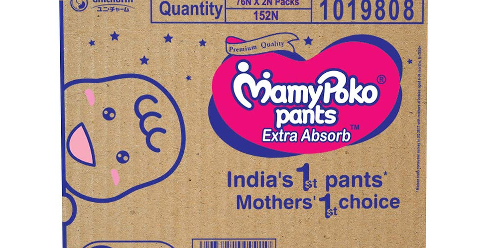 MamyPoko Pants Extra absorb Diapers Monthly Pack  Medium(Pack of 152)