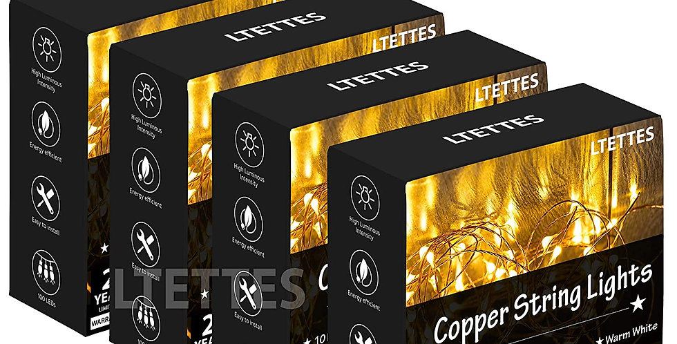 LTETTES USB Fairy String Lights 10 Meters 100 LED WFor Diwali, Christmas