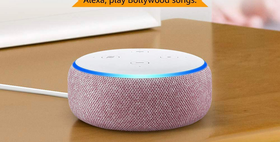 Echo Dot (3rd Gen) - New and improved smart speaker with Alexa (Purple)