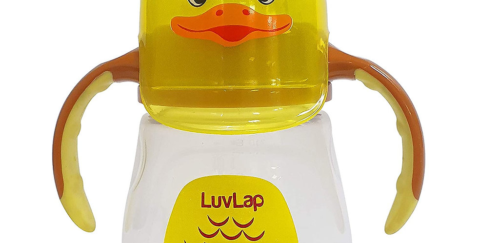 LuvLap Naughty DuckSipper/Sippy Cup 210ml , 6m+ (Yellow)