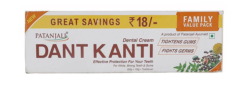 Patanjali Dant Kanti Tootpaste Value Pack - 300 g + 1 ToothBrush