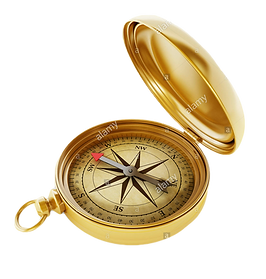 vintage-compass-standing-on-old-world-ma