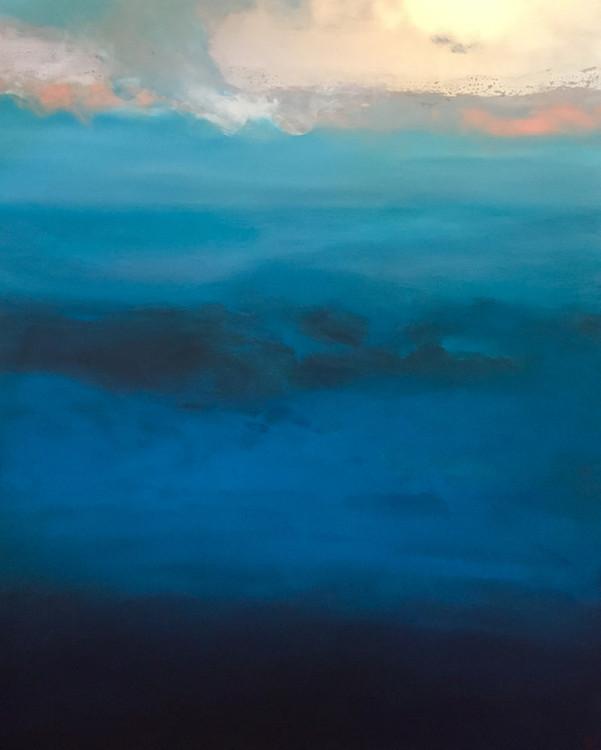 Blue landscape de la série Paysage déserté