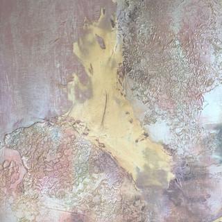 Détail 2014. Acrylique, platre, résine sur bois