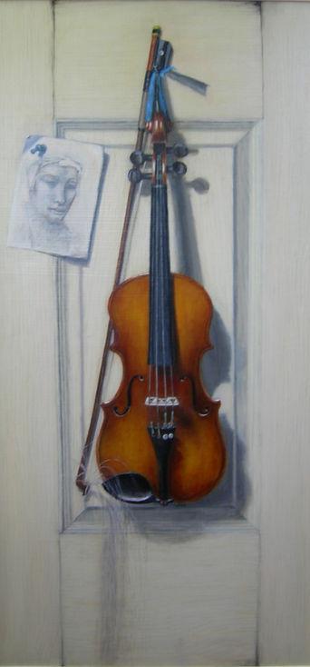 violin trompe l'oeil