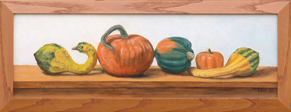 realistic autumn gourds