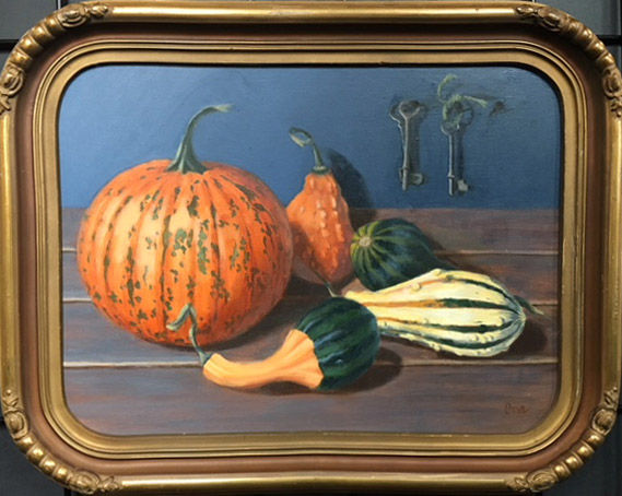 autumn gourds and keys