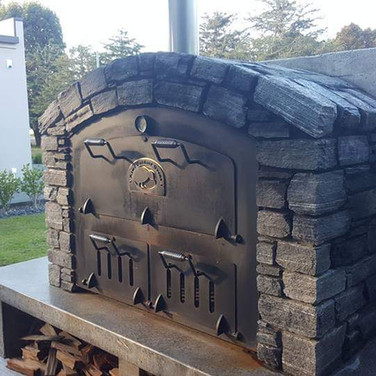 Oven surrounded by Schist