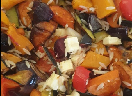 Roast Vegetables with Risoni & Feta