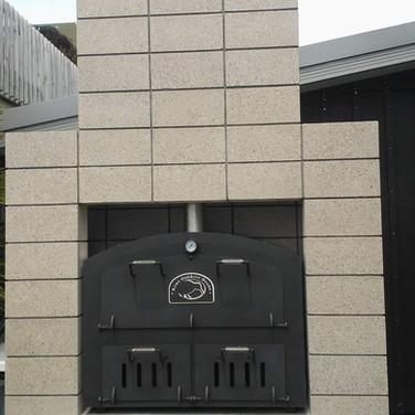 Build into concrete block