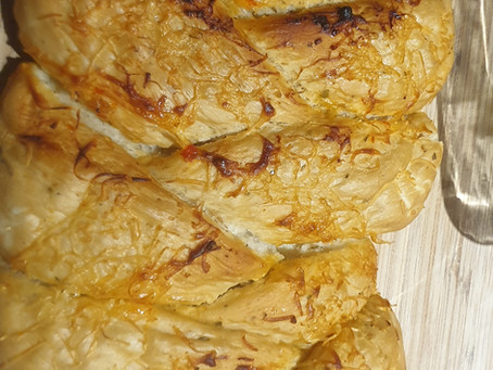 Plaited Cheese Bread