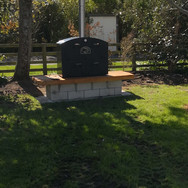 Outdoor Oven / Outdoor Fire on a block and wood base.