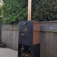A freestanding copper outdoor oven / outdoor fire - stunning!