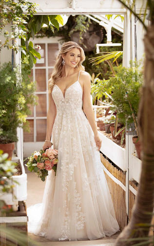 Lace and tulle Wedding dress - 1007065