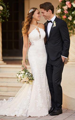 Lace High neckline Dress