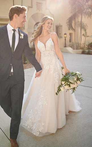 Lace A-line wedding gown