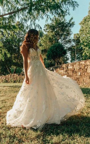 Lace A-line wedding dress