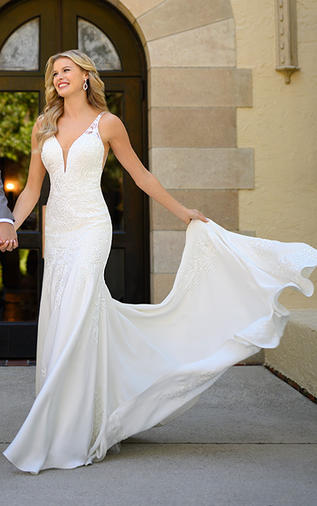 Crepe Fitted Wedding Dress