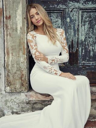 Crepe long sleeves wedding gown.jpg