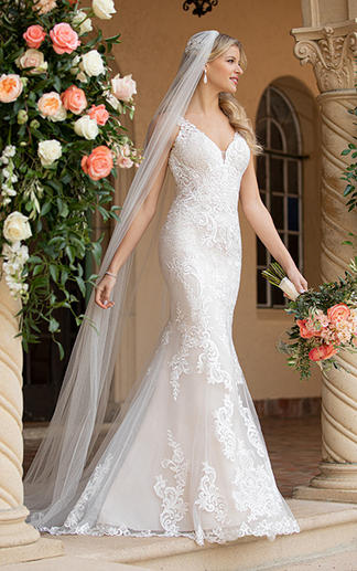 Lace Fit and Flare wedding gown