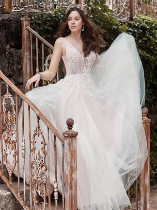 Wedding dress Beaded top